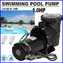 110-120V InGround Swimming Pool 1.0HP Portable Pump Motor With Filter Above Ground