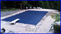 12'x24' Inground Rectangle Swimming Pool Winter Safety Cover Blue Mesh 15 Year
