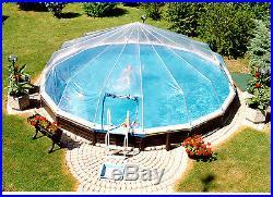 15' Round 10 Panel Above Ground Pool Dome- Atlantic, Swim n Play Esther Williams