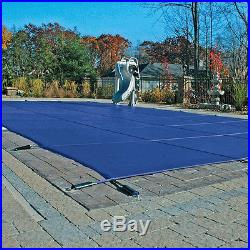 16'X32' Blue Mesh Winter Safety Cover For Inground Swimming Pool 12 Year
