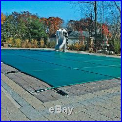 16'x32' GREEN MESH Inground Rectangle Swimming Pool Winter Safety Cover 12 Year