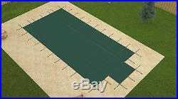 16'x32' Rectangle GREEN MESH In-Ground Swimming Pool Safety Cover with4'x8' CES