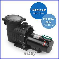 1.5HP/2.0HP Swimming Spa Pool Pump Motor Strainer Inground+0.35HP Pro 2450GPH