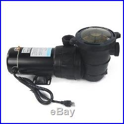 1.5HP 4500GPH Above Ground Swimming Pool Pump with Strainer UL LISTED 2 NPT