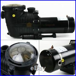 1.5HP IN GROUND Swimming POOL PUMP MOTOR with Strainer, High-Flo, Hi-Rate Inground