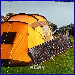 220W 18V Solar Panel Flexible Foldong+Controller Super Light Kit Camping Mono