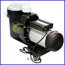 2.5hp Pool Pump Motor Above Ground Swimming Pool Filter Hi-Flo With Strainer Baske