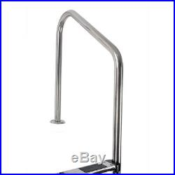 3 Step Stainless Steel In-Ground Swimming Pool Ladder Non-slip with Easy Mount Leg