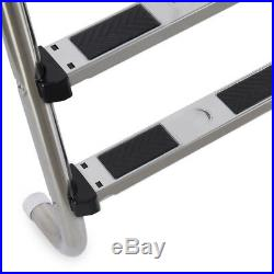 4-Step Polished Stainless Steel Swimming Pool Ladder For Inground Pools Non Slip