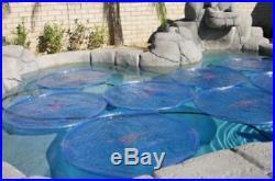 6 Pack Blue Solar Sun Rings Swimming Pool Heater Cover Blanket SSRA-101 Anchors