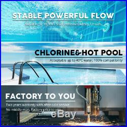 900W Solar Pool Pump Swimming Pool Brushless DC Motor 20000L/H 19m + Controller