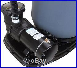 Above Ground Swimming Pool Sand Filter System with Pump 4500GPH 19 1.5HP