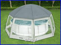 Bestway Poolpavillon Pooldach Poolzelt Pavillon Rund Dome Überdachung Abdeckung
