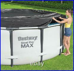 Bestway Range of PVC Swimming Pool Cover, Steel Pro Max Pool Cover 10 FT Diameter