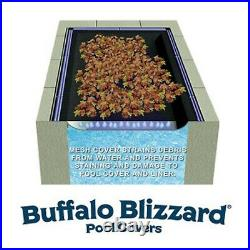 Buffalo Blizzard 20' x 40' Rectangle Swimming Pool Leaf Net Winter Cover
