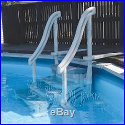Confer CCXAG 4-Step Grey Curve Above Ground Swimming Pool Entry System Step