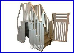 Confer Plastics Above Ground Gray Swimming Pool System with Steps & Closure Kit