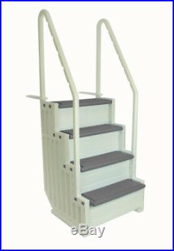 Confer Step 1 Aboveground In Pool Swimming Pool Steps Entry System Grey