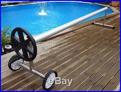 Extra Long 21 Ft Stainless Steel Inground Solar Cover