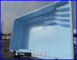 GFK POOL Schwimmbecken 6,10x3,70x1,50 Fertigbecken mit komplette Zubehoer SET