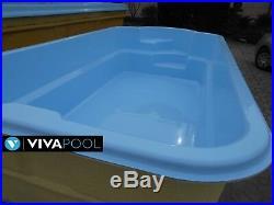 GFK Pool Schwimmbecken 5,2x2,6 Fertigbecken voll Isoliert Gartenpool VORMONTAGE
