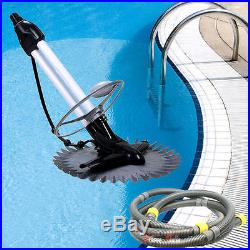 INGROUND AUTOMATIC SWIMMING POOL VACUUM CLEANER HOVER WALL CLIMBS With 33FT Hoses