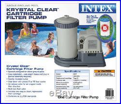INTEX 2500 GPH Krystal Clear GCFI Pool Filter Pump with Timer 633T 56633EG