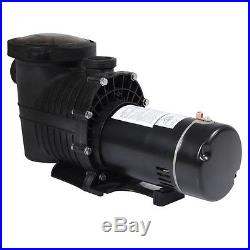 In Ground Motor 1.0HP Swimming Pool Pump with Strainer, High-Flo, Hi-Rate Inground