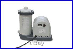 Intex 1500 GPH Easy Set Swimming Pool Filter Pump with Timer & GFCI 635T 28635EG