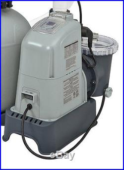 Intex 1600 GPH Saltwater System & Sand Filter Pump Swimming Pool Set 28675EG