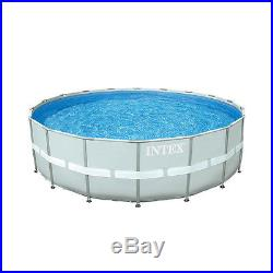 Intex 18 x 4.3 Foot Ultra Frame Swimming Pool Set with 1600 GPH Sand Filter Pump