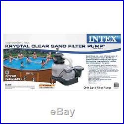 Intex 2100 GPH Krystal Clear Sand Filter Swimming Pool Pump (Open Box)