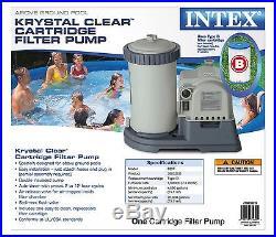 Intex 2500 GPH Krystal Clear GCFI Pool Filter Pump with Timer 633T Model 28633EG
