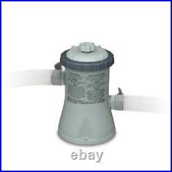 Intex 28601EG 330 GPH Easy Set Swimming Pool Cartridge Filter Pump with GFCI