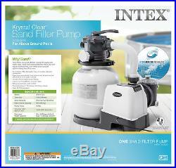 Intex Krystal Clear 2100 GPH Above Ground Easy Set Pool Sand Filter Pump 26645EG