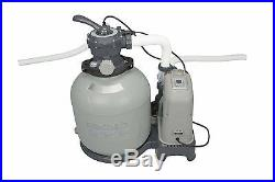 Intex Krystal Clear 2650 GPH Pool Saltwater System & Sand Filter Pump 28681EG