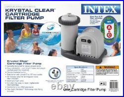 Intex Krystal Clear Cartridge Filter Pump for Above Ground Pools 1500 GPH Pu