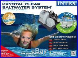 Intex Krystal Clear Saltwater System 28663EG Pool Pump Up To 15,000 Gallons