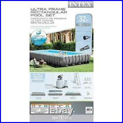 Intex Ultra Frame 32' x 16' Rectangle Metal Frame Pool with Sand Filter Pump