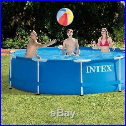 Juego de piscina Intex marco de metal, 10 pies x 30 pulgadas
