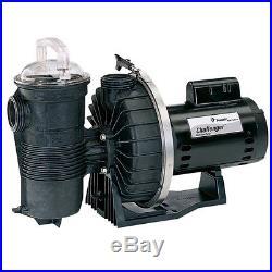 Pentair Challenger 1.5 HP High Flow Inground Swimming Pool Pump 343234