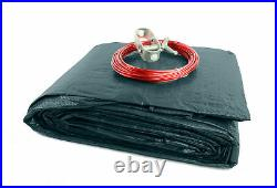 Round Deluxe Reversible Above-Ground Swimming Pool Winter Cover (Various Sizes)