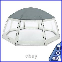 Round Pool Dome Tent Cover Canopy Swimming Pool Enclosure Protector Shelter Dome