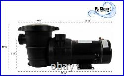 Rx Clear Above Ground. 75 HP Single Speed Pump For Swimming Pool with Cord