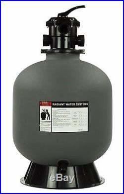 Rx Clear Radiant 22 Inch Above Ground Swimming Pool Sand Filter with6-Way Valve