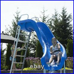 S. R. Smith 610-209-58220 Rogue2 Pool Slide Left Curve Gray 8' for Swimming Pools