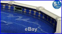 SmartLine 24' x 52 Round Unibead Mosaic Diamond Swimming Pool Liner 25 Gauge
