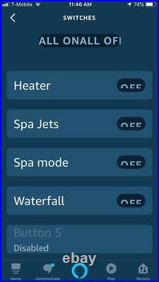 Smart Alexa Spa And Pool Remote Jandy Spa side Remote 4 relays