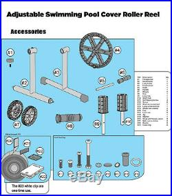 Stainless Steel Solar Cover Reel For Swimming Pools Up To 21 Feet Wide Inground