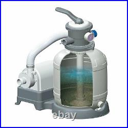 Summer Waves 12 Inch Sand Filter Pump System for Above Ground Swimming Pools